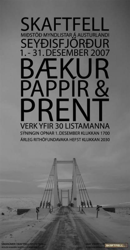 BÆKUR, PAPPÍR & PRENT