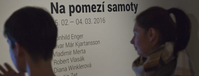 Photographs from the opening of Frontiers of Solitude in Prague