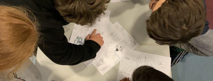 Comics drawing workshop with Anna Vaivare
